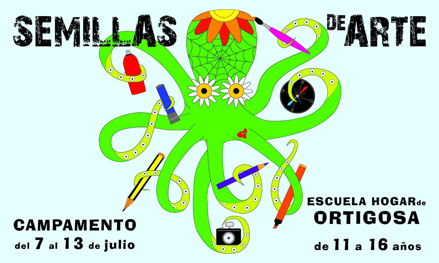 Semillas de Arte - Campamento en Ortigosa de Cameros - Pigmento Espacio Creativo